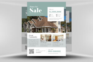 Real Estate Flyer Template Brochure With Shape Publisher Within Real Estate Brochure Templates Psd Free Download