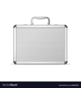Realistic 3D Detailed Blank Aluminum Suitcase throughout Blank Suitcase Template
