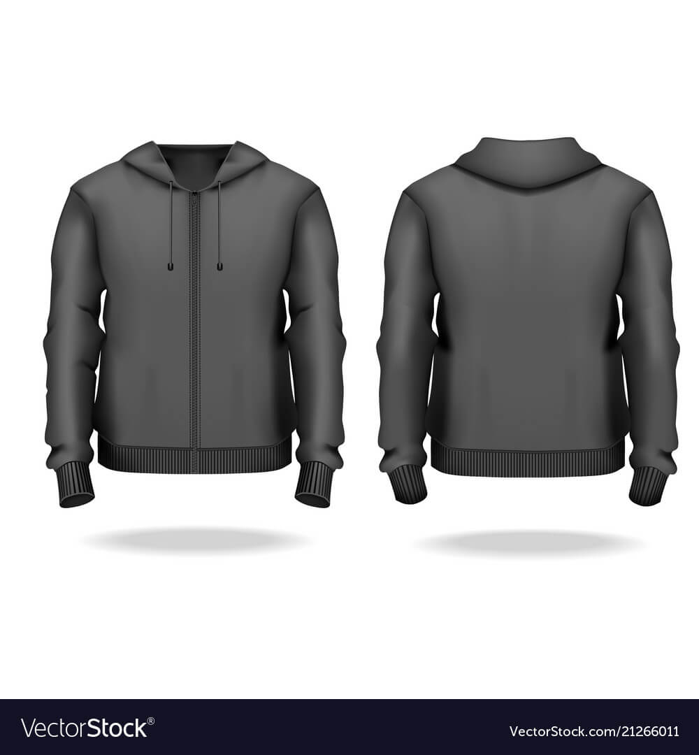 Realistic Detailed 3D Template Blank Black Male Pertaining To Blank Black Hoodie Template