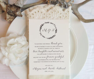 Reception Thank You Card Template   Instant Download Pdf throughout Template For Wedding Thank You Cards