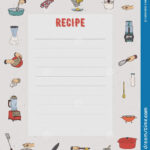 Recipe Card. Cookbook Page. Design Template With Kitchen For Restaurant Recipe Card Template