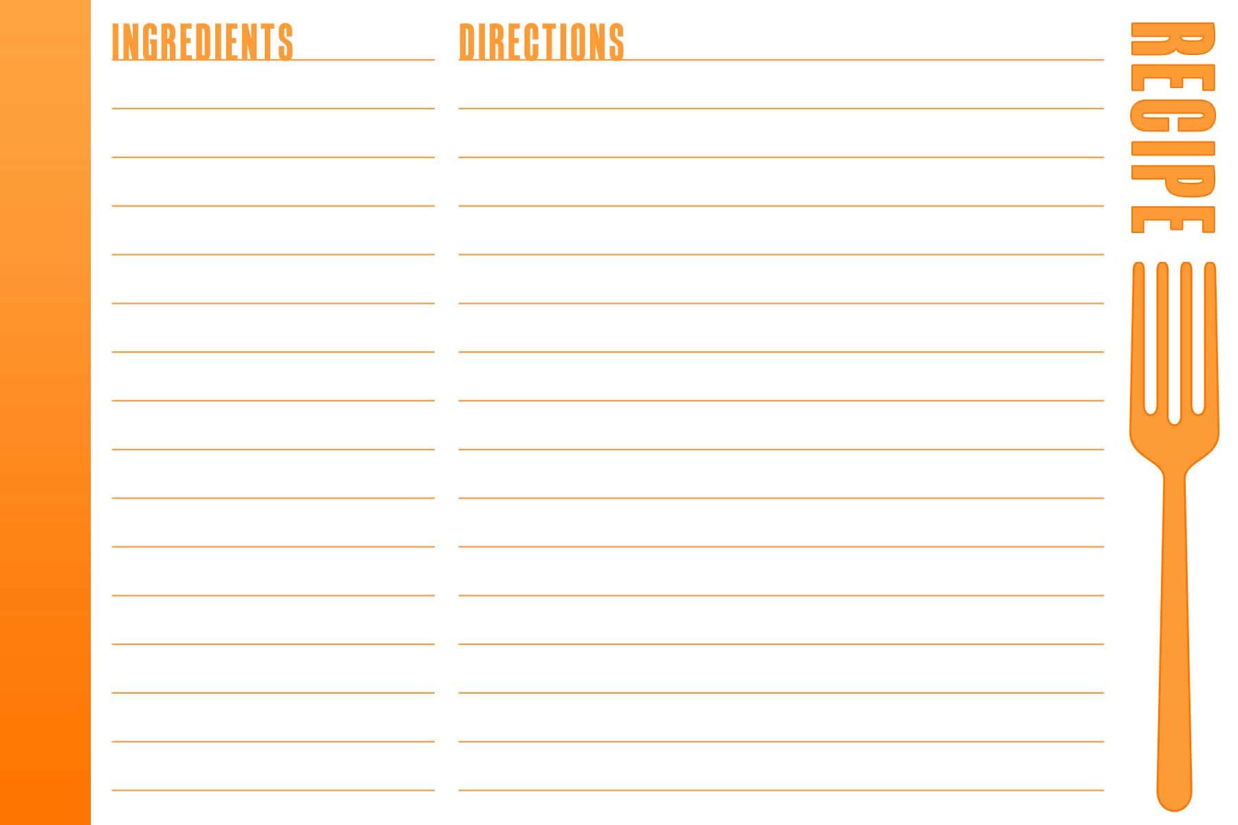Recipe Card Template 650*434 – Recipe Card Template Wcko3Vf2 For Fillable Recipe Card Template