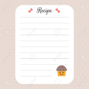 Recipe Card Template. Cookbook Template Page. For Restaurant,.. pertaining to Restaurant Recipe Card Template