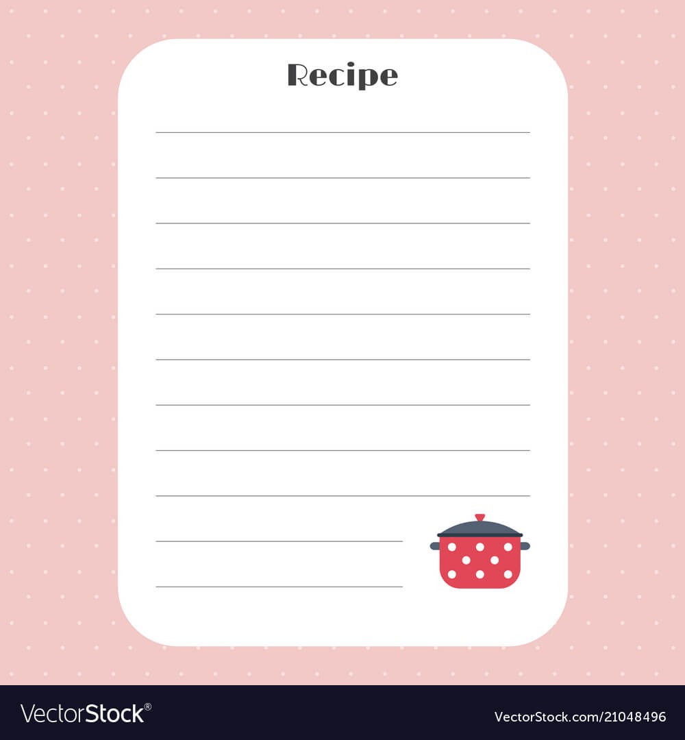 Recipe Card Template For Restaurant Cafe Bakery Within Restaurant Recipe Card Template