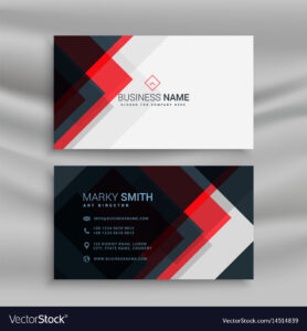 Red And Black Creative Business Card Template Vector Image with regard to Web Design Business Cards Templates