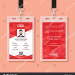 Red Corporate Id Card Design Template   Victorias Pertaining To Company Id Card Design Template