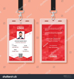 Red Corporate Id Card Design Template | Victorias pertaining to Company Id Card Design Template