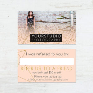 Referral Card Template | Pastel Greetings throughout Photography Referral Card Templates