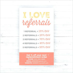 Referral Card Template Photo Marketing Templates – Wovensheet.co inside Referral Card Template Free