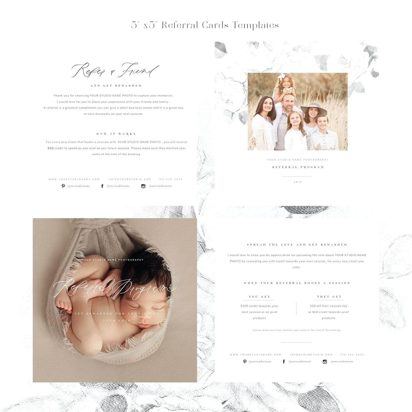 Referral Love Card Templates Template – Wovensheet.co Within Photography Referral Card Templates