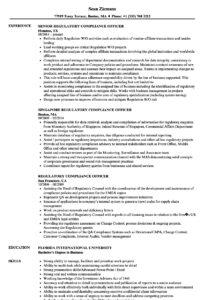 Regulatory Compliance Officer Resume Samples | Velvet Jobs for Compliance Monitoring Report Template