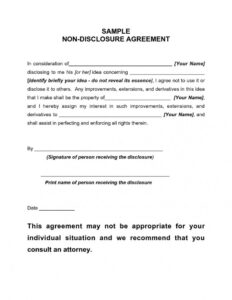 Remarkable Nda Agreement Template Word Ideas Non Disclosure pertaining to Nda Template Word Document