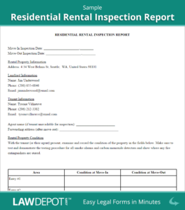 Rental Inspection Report | Property Inspection Checklist pertaining to Property Management Inspection Report Template