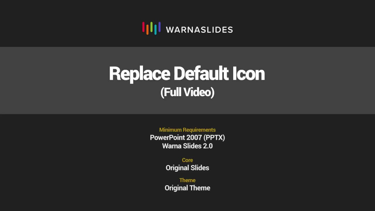 Replace Default Icon In Powerpoint Template – Warna Slides With Regard To Powerpoint Replace Template