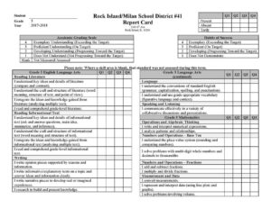 Report Card Examples – Illinois Standards Based Reporting inside Soccer Report Card Template
