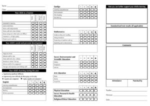 Report Card Template – 33+ Free Word, Excel, Documents intended for Homeschool Report Card Template