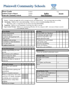 Report Card Template Free Templates In Pdf Word Excel Inside Report Card Template Pdf