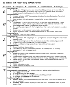 Report Nursing Bedside Shift Template Importance Of throughout Implementation Report Template