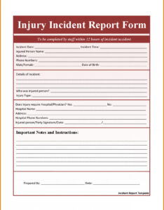 Report On The Fire Accident Incident Form Templates Healthd inside School Incident Report Template