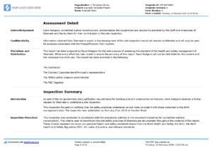 Report Sample Safety Format Monthly Health And Annual Site Y inside Annual Health And Safety Report Template