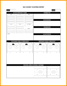 Report Scouting Late Sample Football Player Baseball Soccer inside Football Scouting Report Template