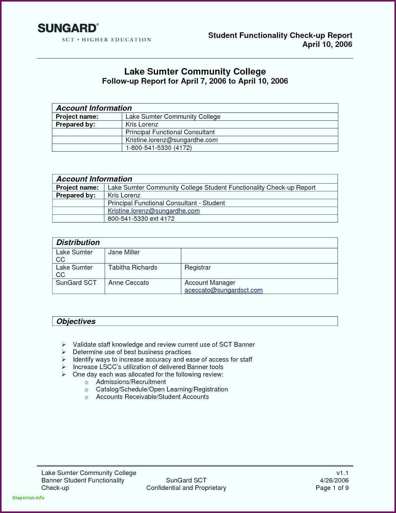 Report Summary Template Sample In Excel Pdf Training Format Regarding Template For Summary Report