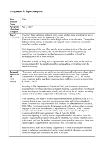 Report Template – Assignment – 6890: Arts Education 2 – Studocu with Assignment Report Template