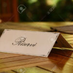 Reservation Card On A Table Throughout Table Reservation Card Template