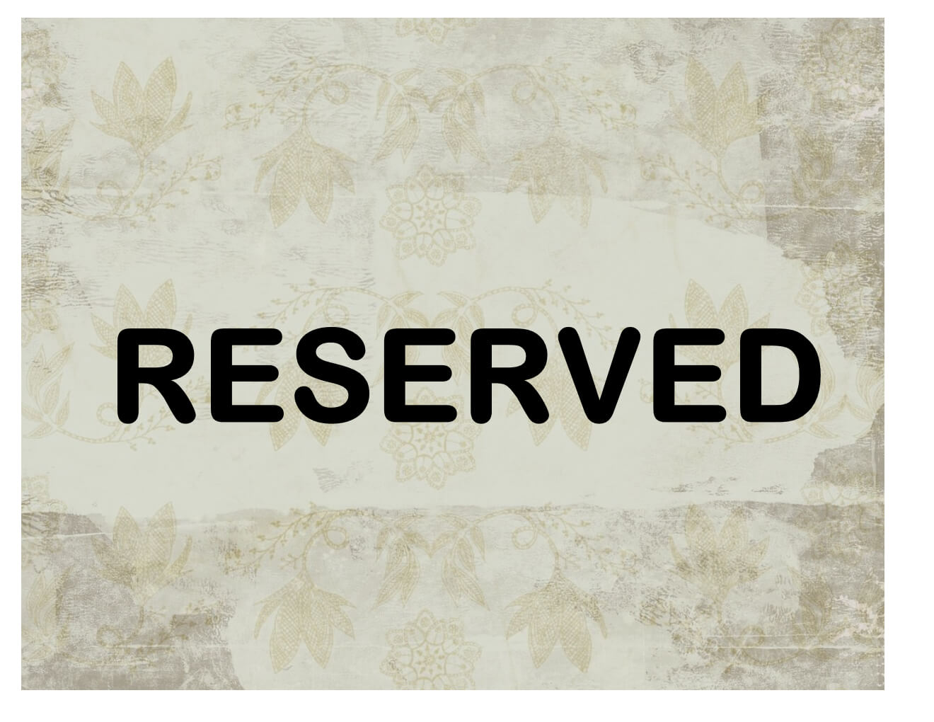 Reserved Sign Throughout Reserved Cards For Tables Templates