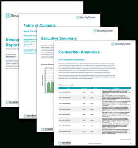 Resource Monitoring Report – Sc Report Template | Tenable® with Compliance Monitoring Report Template