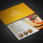 Restaurant Business Card Design Vector Free Download Credit Within Restaurant Business Cards Templates Free