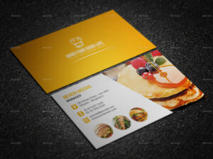 Restaurant Business Card Design Vector Free Download Credit within Restaurant Business Cards Templates Free