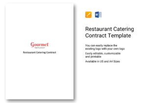 Restaurant Catering Contract Template In Word, Apple Pages for Catering Contract Template Word