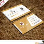 Restaurant Chef Business Card Template Free Psd Inside Templates For Visiting Cards Free Downloads