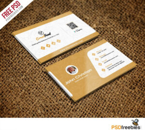 Restaurant Chef Business Card Template Free Psd | Psd Print for Restaurant Business Cards Templates Free
