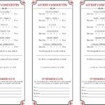 Restaurant Comment Card – Google Search   Comment Cards In For Restaurant Comment Card Template