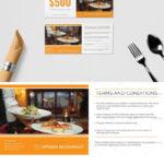 Restaurant Gift Certificate Template   ❱❱ Restaurant Intended For Restaurant Gift Certificate Template
