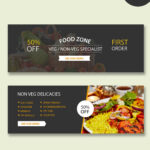 Restaurant Psd Banner Templates With Food Banner Template