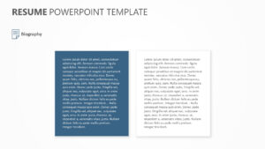 Resume Powerpoint Template   Pslides intended for Biography Powerpoint Template