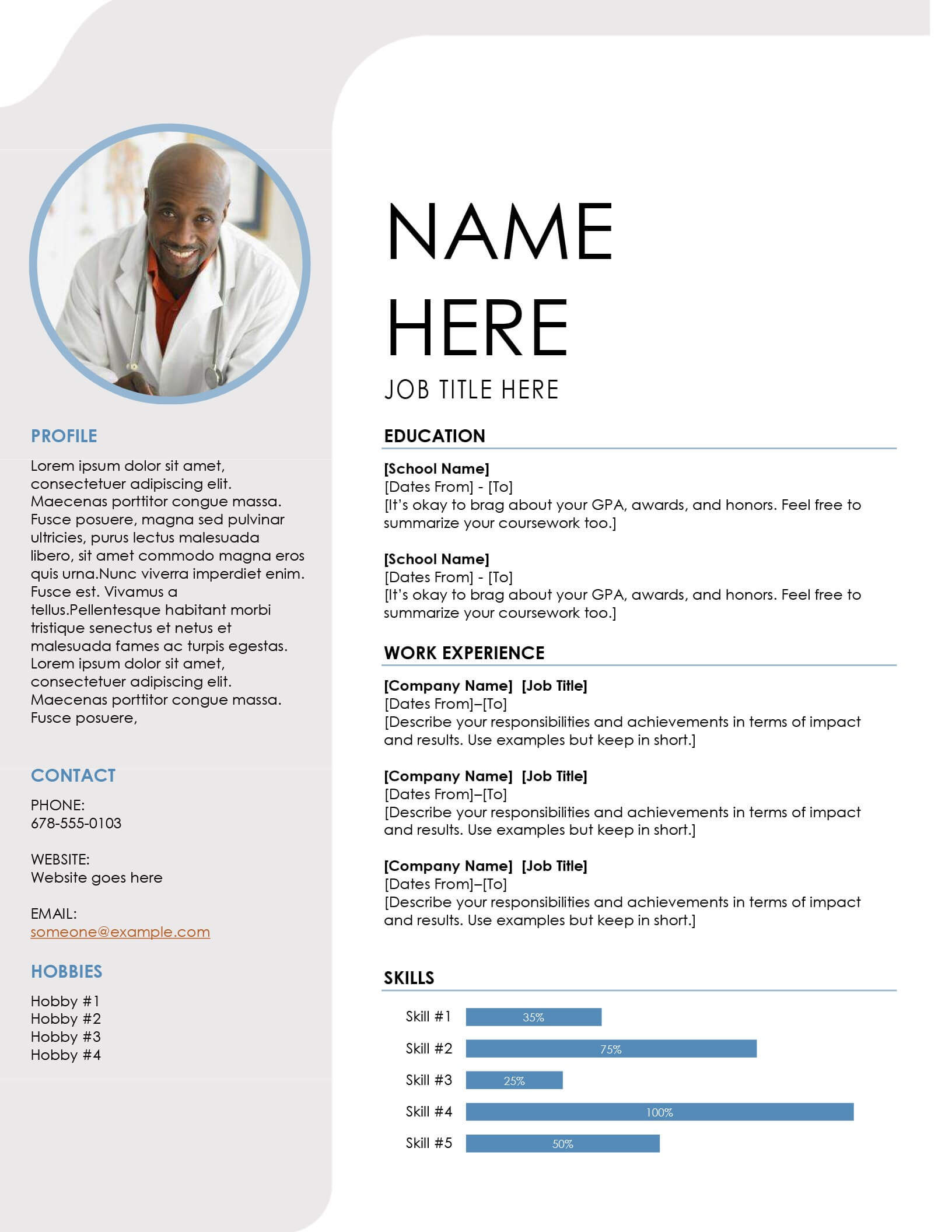 Resumes And Cover Letters - Office Intended For Microsoft Word Resume Template Free