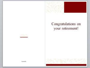 Retirement Card Template   Retirement Cards » Template Haven inside Retirement Card Template