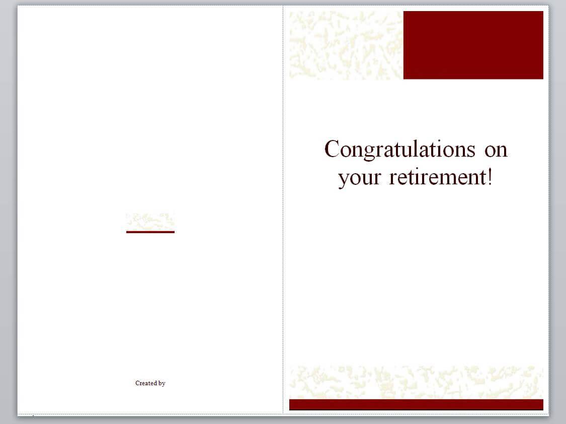 Retirement Card Template | Retirement Cards » Template Haven Inside Retirement Card Template