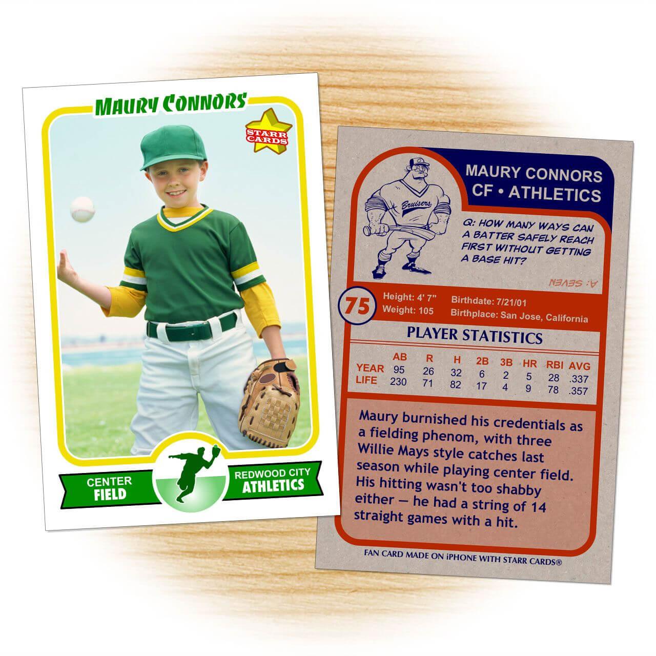 Retro 75 Series Is The Primary Custom Baseball Card Design Inside Baseball Card Template Psd