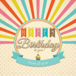 Retro Happy Birthday Card Psd - Free Photoshop Brushes At in Photoshop Birthday Card Template Free