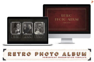 Retro Photo Album Ppt Template pertaining to Powerpoint Photo Album Template