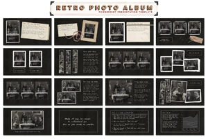 Retro Photo Album Ppt Templateblixa 6 Studios On inside Powerpoint Photo Album Template