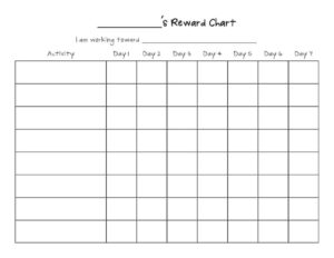 Reward Chart Templates – Word Excel Fomats Pertaining To Reward Chart Template Word