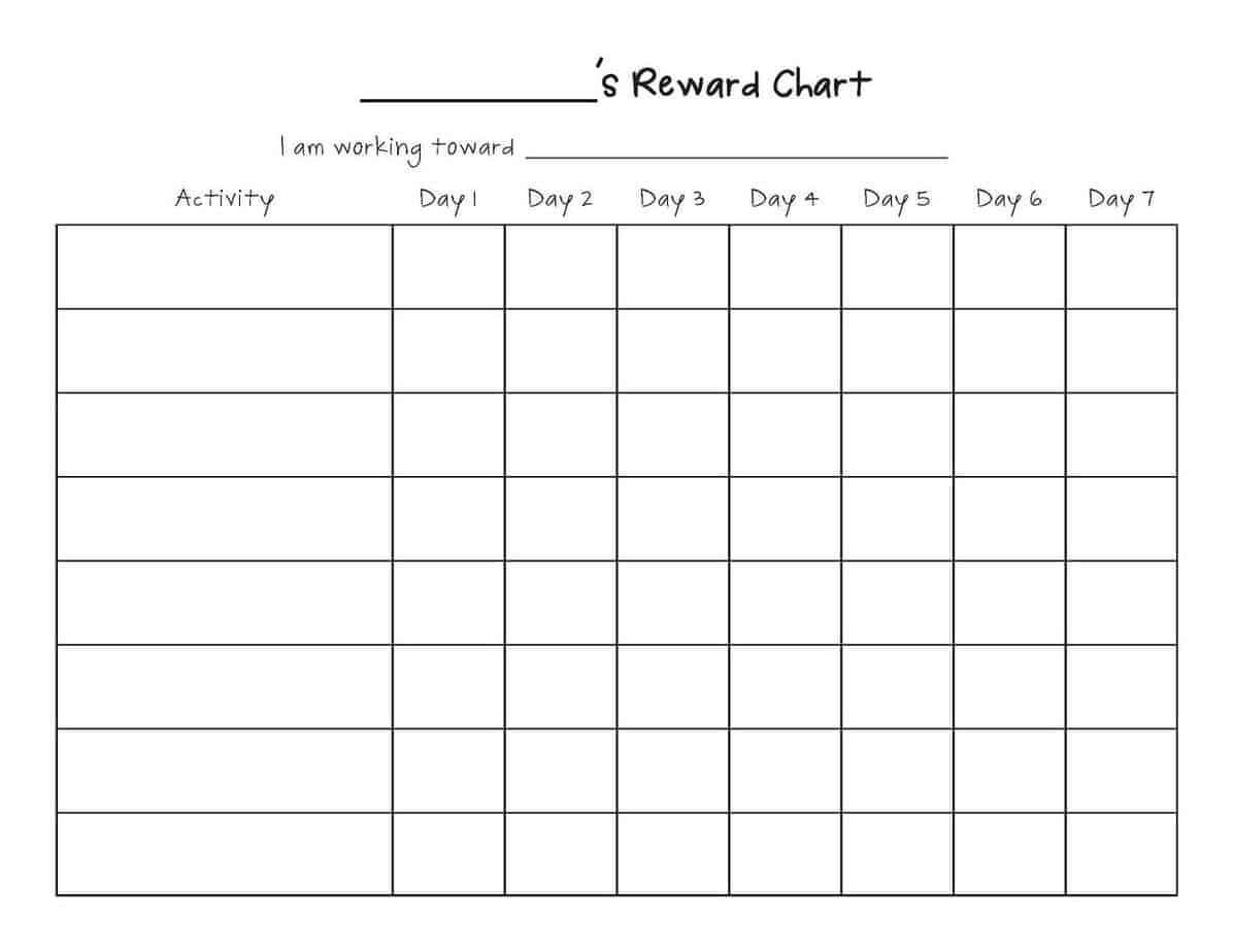 Reward Chart Templates - Word Excel Fomats Pertaining To Reward Chart Template Word