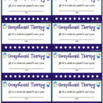 Reward Punch Cards For Ot/pt - Your Therapy Source for Reward Punch Card Template