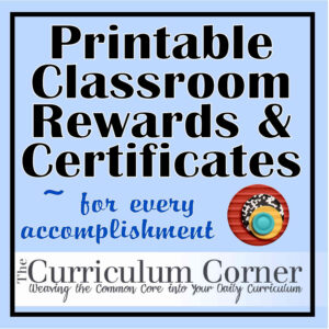 Rewards & Certificates | Www.thecurriculumcorner with Classroom Certificates Templates